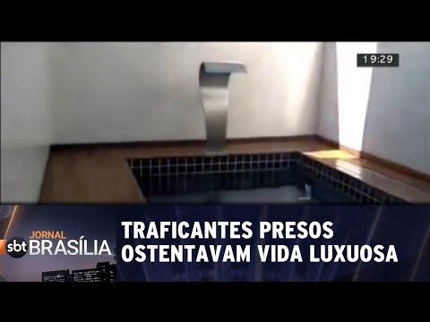 Traficantes presos ostentavam vida luxuosa | Jornal SBT Brasília 30/07/2018