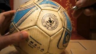 Как правильно накачать футбольный мяч