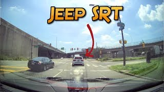 JEEP SRT tries to outrun a TRACKHAWK.