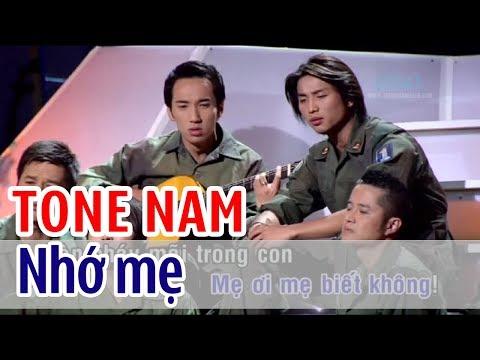 Nhớ Mẹ - KARAOKE   Tone Nam   Quốc Khanh, Đan Nguyên, Đoàn Phi, Mai Thanh Sơn