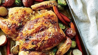 Garlicky Roasted Spatchcock Chicken | Southern Living