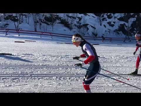 Starten på Norgescupfinalen Alta 2018 Eldre jr damer