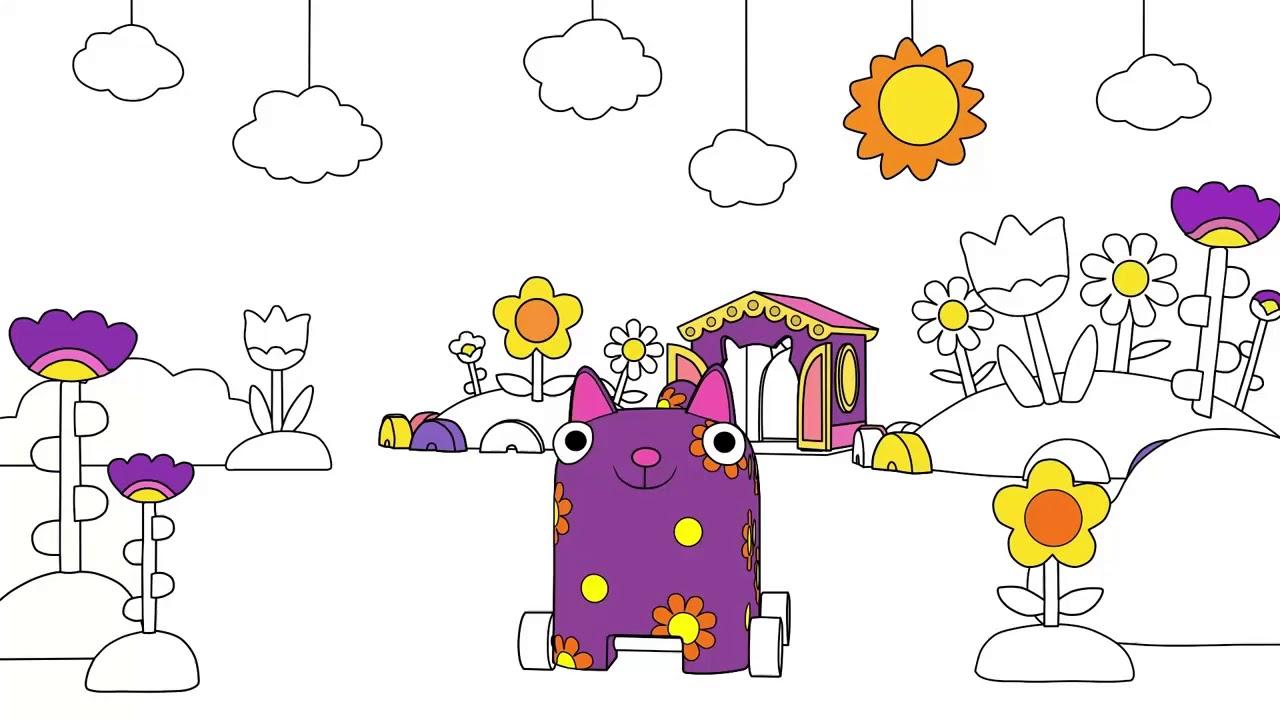 Раскраска Деревяшки Дождик Учим цвета с малышами ...