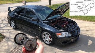 EVO 7/8/9 Serpentine Belt (Accessory Belt) Removal and Install