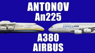 Which is Bigger ? Antonov AN225 vs Airbus A380