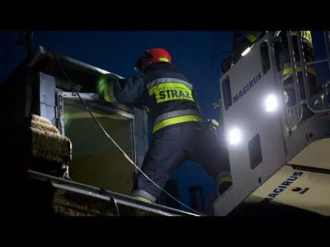 Strażacy znów działali przy Moniuszki
