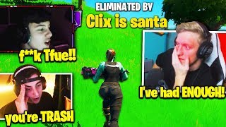 TFUE & CLOAKZY *HUGE FIGHT* after CLIX *GRIEFS* THEM in TOURNAMENT! (Fortnite)