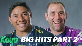 Footy Stars React | Big Hits of the Decade Part 2 | NRL | Kayo