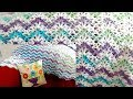 Ripple V Stitch Crochet Throw - Pattern and tutorial now available