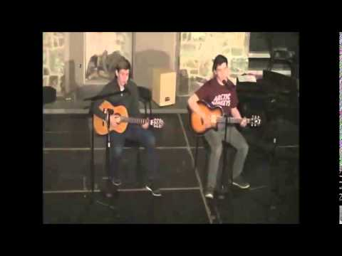"The Potomac School Coffeehouse - ""Sweet Baby James"" sung by Nick Berray and JJ Ricchetti"
