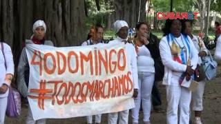 Marcha número 40 de las Damas de Blanco en apoyo a la campaña #TodosMarchamos