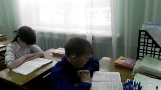 """Фрагмент урока в 4 """"б"""" классе. Учитель Агафонова О.А."""