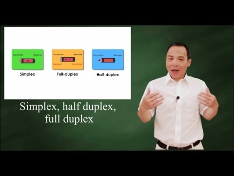 Simplex,  half duplex, and full duplex