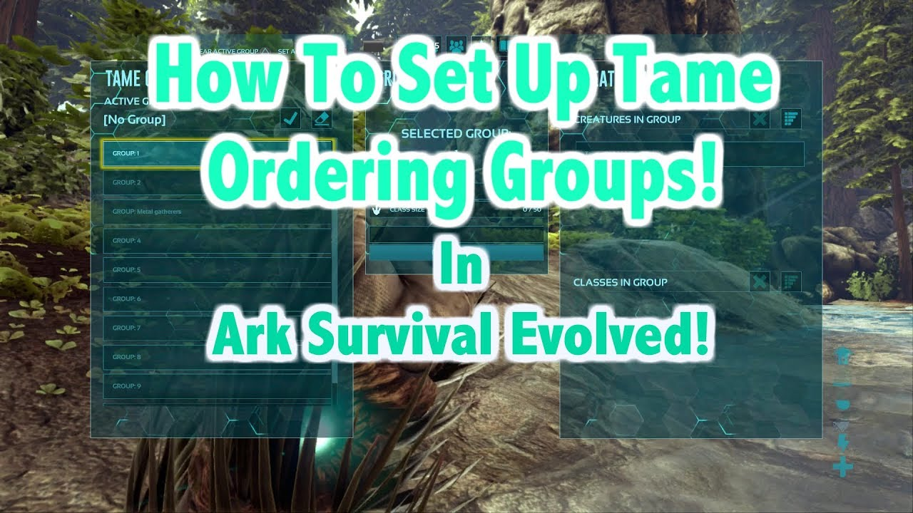 How To Set Up And Use Tame Ordering Groups In Ark Survival Evolved!