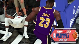 NBA 2020 Virtual Playoffs - Lakers vs Clippers Western Conference Finals Game 6  LAL vs LAC (NBA 2K)