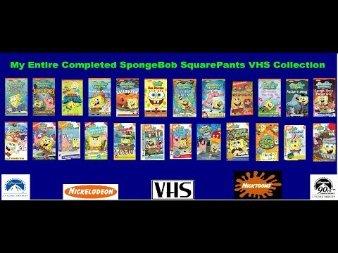 Video - My Entire Completed SpongeBob SquarePants VHS