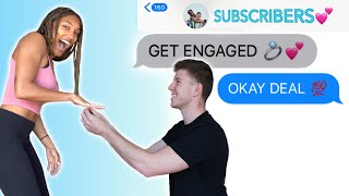 LETTING SUBSCRIBERS PICK OUR ENGAGEMENT! Top Comments