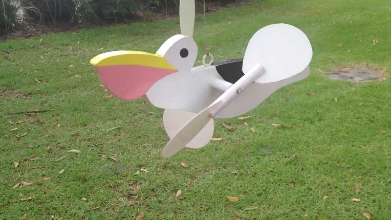 Handmade wooden Australian Native Bird species mobile - wind operated wings