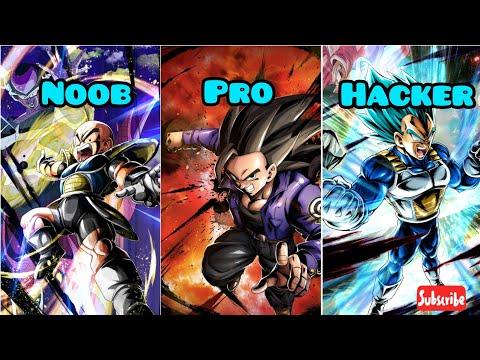 NOOB VS PRO VS HACKER!!! - DRAGON BALL LEGENDS!!
