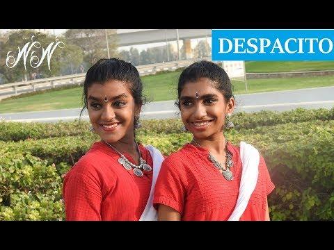 Despacito - Indian Classical Version | Bharathanatyam Dance Choreography | Nidhi and Neha