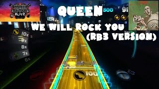 Queen - We Will Rock You (RB3 version) - Rock Band Blitz Playthrough (5 Gold Stars)