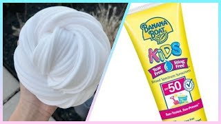 No Glue Sunscreen Slime Recipe!!