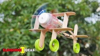 How To Make A Plane With Popsicle Stick  ทำเครื่องบินไม้ไอติม
