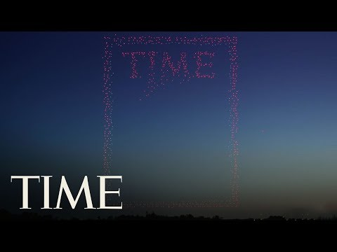 Watch A TIME Magazine Cover Made Using 958 Drones Take Shape   TIME