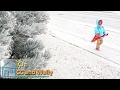 Freezing Fog Storm is Beautiful!  Children's Outdoor Activities Play Fun in the Snow Ice