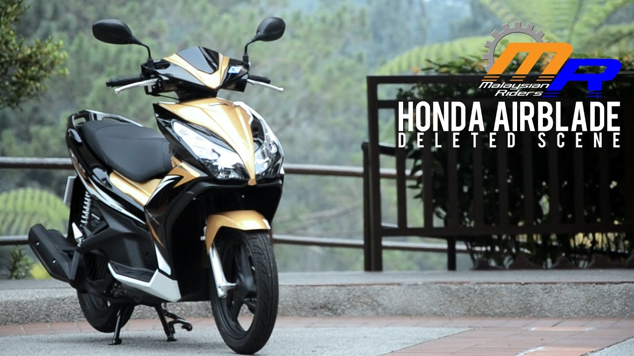 2013 honda airblade review: deleted scene - youtube