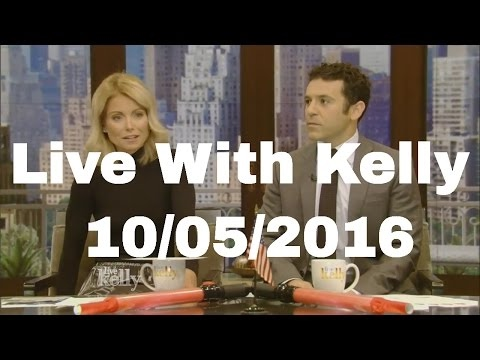 "Live With Kelly 10/05/2016 co-host Fred Savage,Ted Danson (""The Good Place""); Ann Heche"