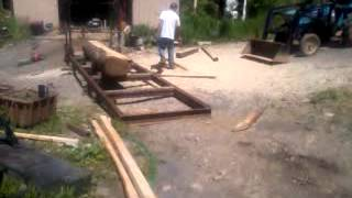 Home made swing Blade sawmill by