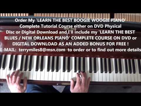 SPECTACULAR BOOGIE WOOGIE PIANO LESSON BY TERRY MILES