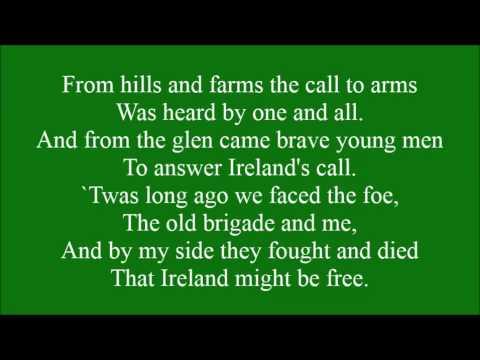 Boys of the Old Brigade with lyrics