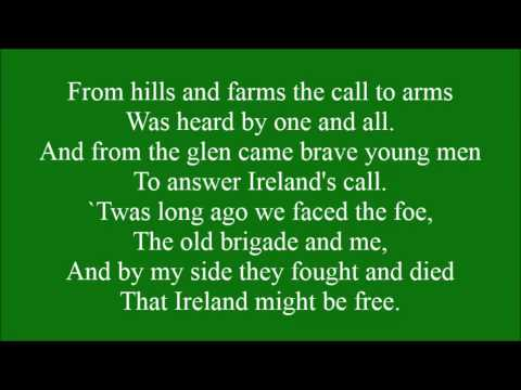 Boys of the Old Brigade with lyrics