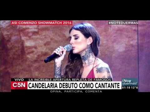 C5N - No te duermas: Candelaria Tinelli debutó como cantante en la apertura de Showmatch 2016