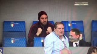 Derby Roma Lazio goal Dzeko 8.11.2015 De Rossi esulta