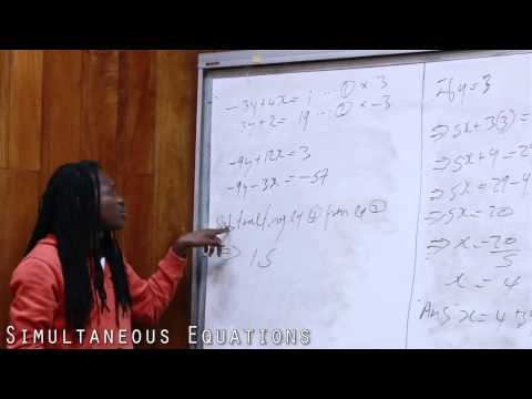 Damion Crawford CXC Mathematics - Simultaneos Equations