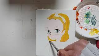 [Hand painting]그림그리기/원목연필꽂이/