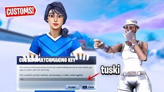 CUSTOM MATCHES Gegen (OG SKINS) CUSTOM MATCHMAKING Scrims! (Fortnite Battle Royale)