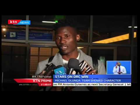KTN Sports: National team Harambee Stars jets in from Congo after a 1-0 win over DRC, 6/10/16