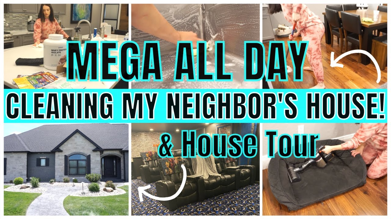 *MEGA* WHOLE HOUSE CLEAN WITH ME 2020 | ALL DAY SPEED CLEANING MOTIVATION | HOUSE TOUR 2020