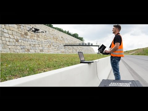 UAV- / Drone-based retaining wall inspection – civil engineering