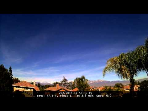 Chino Hills Time-Lapse 2/2/15