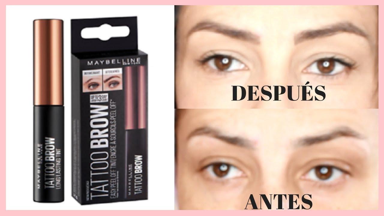 Tattoo brow maybelline a prueba sandranewlook youtube for Maybelline eyebrow tattoo