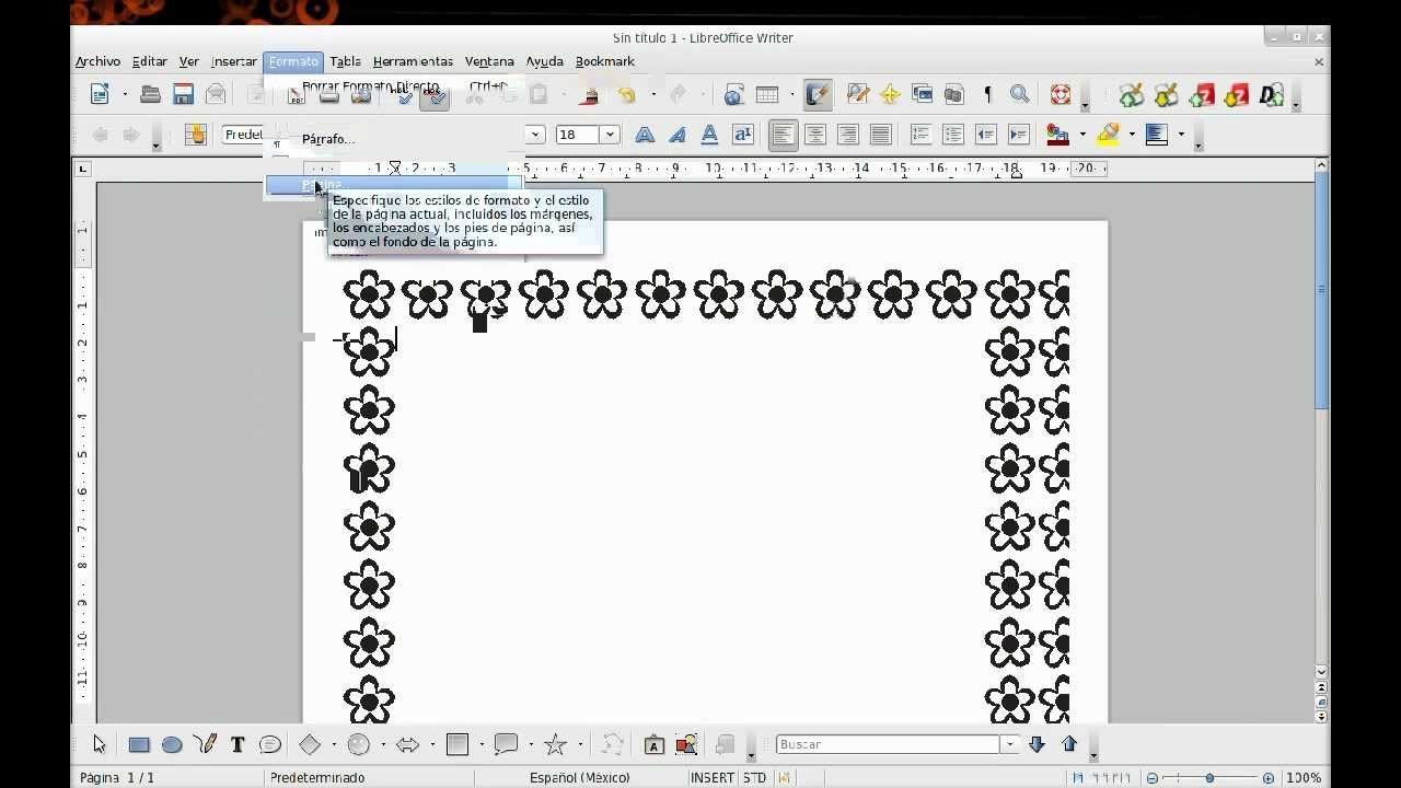 bordes artisticos en openoffice libreoffice como en word - YouTube