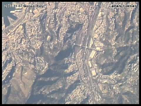 Panaromic View from Space of Genoa Italy