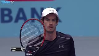 Andy Murray hits fan with serve, then makes her day | Vienna 2016