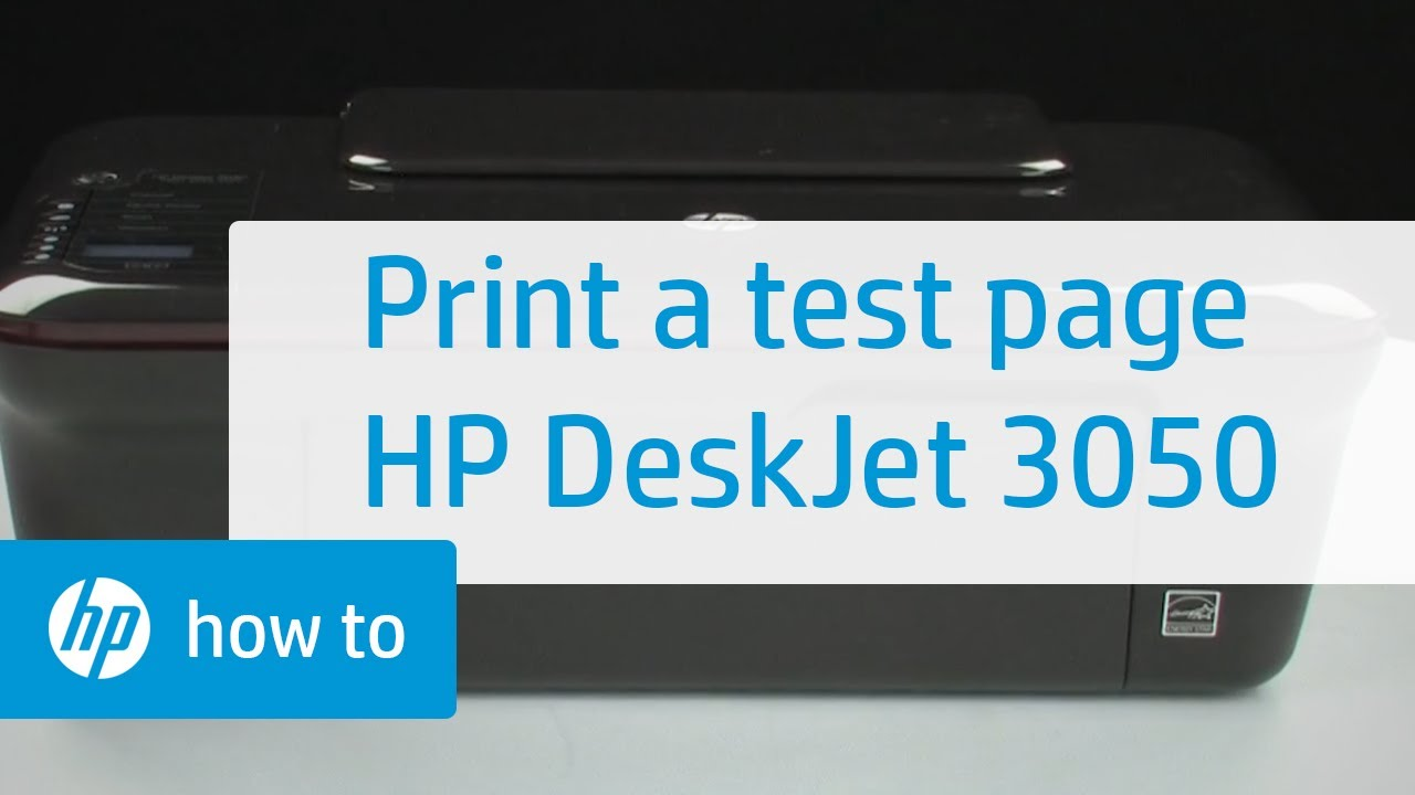 Printing A Test Page Hp Deskjet 3050 All In One Printer