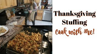 THE BEST THANKSGIVING STUFFING RECIPE!  NO FAIL STUFFING
